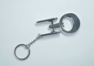 ST USS ENTERPRISE BOTTLE OPENER KEYCHAIN