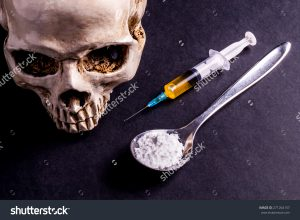 stock-photo-skull-and-spray-with-yellowish-liquid-next-to-them-are-a-spoon-with-white-powder-which-is-similar-271264157